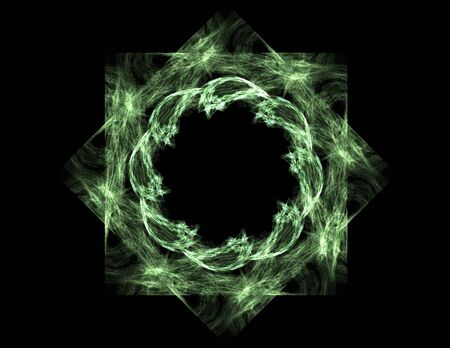 nuclear physics: Elementary Particles series. Interplay of abstract fractal forms on the subject of nuclear physics science and graphic design. Stock Photo