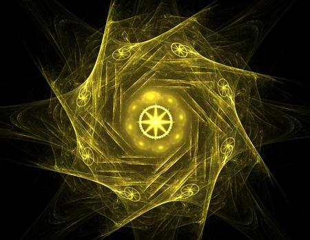 concept magical universe: Lacy colorful clockwork pattern, digital fractal art design