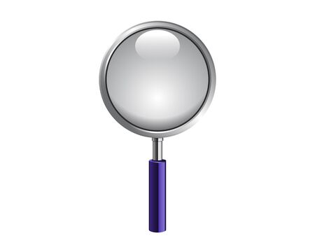 low scale: Magnifying glass isolated on white photo-realistic illustration Illustration