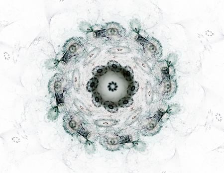 artwork: Colorful fractal rings, digital artwork Stock Photo
