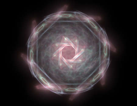 microcosm: Lacy colorful clockwork pattern. Digital fractal art design. Stock Photo