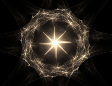 concept magical universe: Lacy colorful clockwork pattern. Digital fractal art design. Stock Photo