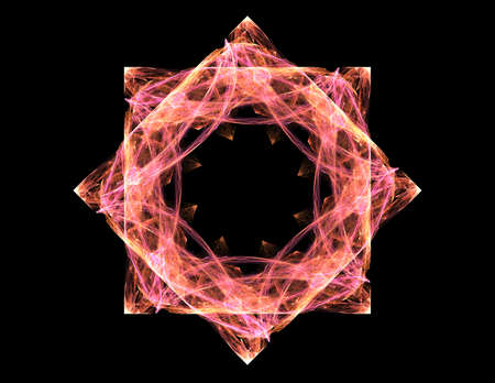 oscillation: Particles of abstract fractal forms on the subject of nuclear