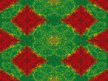 kaleidoscopic: Kaleidoscopic low poly circle style mosaic background