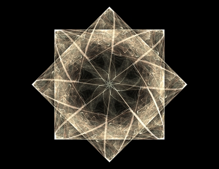 Particles of abstract fractal forms on the subject of nuclear