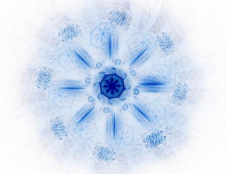 Lacy colorful clockwork pattern. Digital fractal art design. Stock Photo