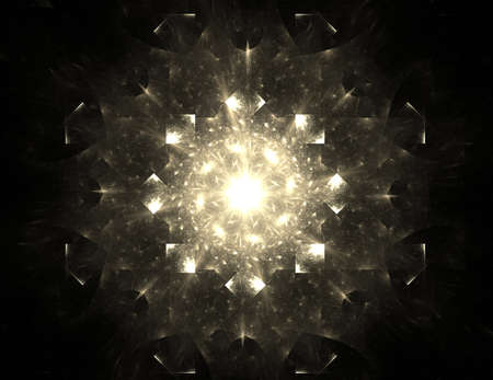 visually: Visually attractive backdrop made of conceptual grids curves and fractal elements Stock Photo