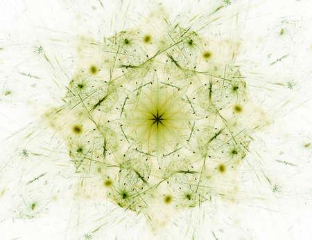 photon: Lacy colorful clockwork pattern. Digital fractal art design. Stock Photo