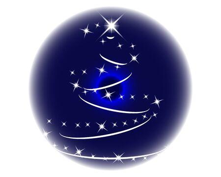luminary: Close-up blue eye looking up to luminary christmas tree