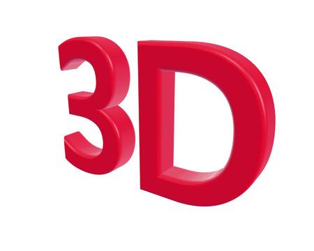 color 3d: 3d rendering color 3D letters on white background. 3d illustration.