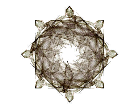 Geometry of Space series. Visually attractive backdrop made of conceptual grids curves and fractal elements suitable as element for layouts on physics mathematics technology science and education. Stock Photo