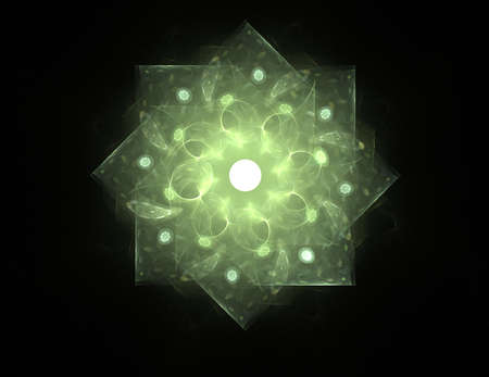 spiritual energy: Geometry of Space series. Visually attractive backdrop made of conceptual grids curves and fractal elements suitable as element for layouts on physics mathematics technology science and education. Stock Photo