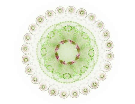 Visueel aantrekkelijk decor gemaakt van conceptuele grids bochten en fractal elementen