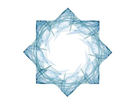 chakra energy: Geometry of Space series. Visually attractive backdrop made of conceptual grids curves and fractal elements suitable as element for layouts on physics mathematics technology science and education. Stock Photo