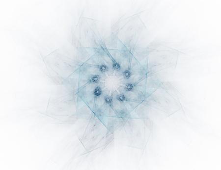 Geometrie van Space-serie. Visueel aantrekkelijk decor gemaakt van conceptuele grids bochten en fractal elementen geschikt als element voor lay-outs op de natuurkunde wiskunde technologie wetenschap en onderwijs.