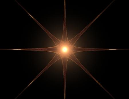 カラフルな光るニューロン フラクタル 写真素材 - 88549743