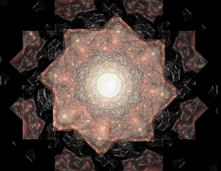 カラフルな光るニューロン フラクタル 写真素材 - 89859548