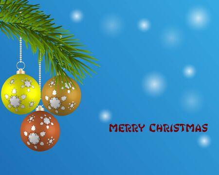 Christmas card vector design illustration