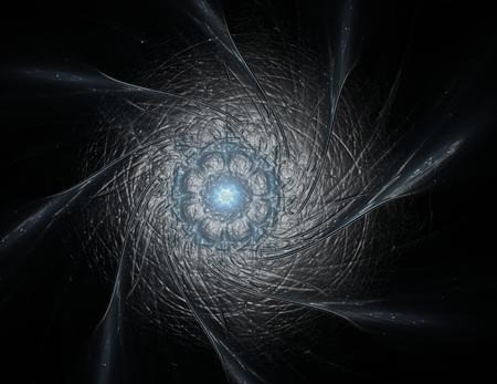 カラフルな光るニューロン フラクタル 写真素材