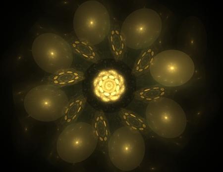 カラフルな輝くニューロンフラクタル 写真素材 - 92339935