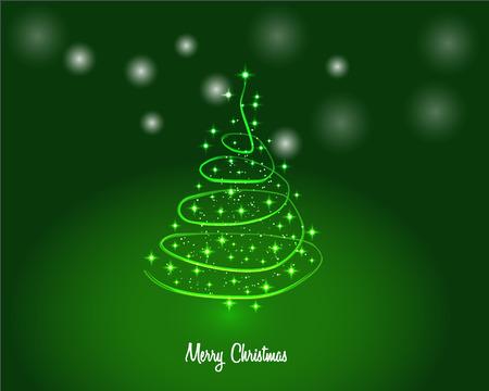 Christmas tree with shining lights.