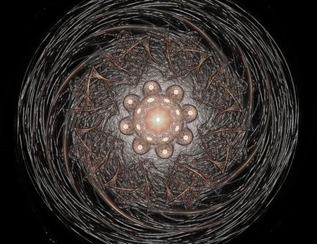 カラフルな輝くニューロンフラクタル 写真素材 - 97448879