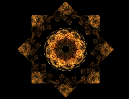 Lacy colorful clockwork pattern. Digital fractal art design. 写真素材