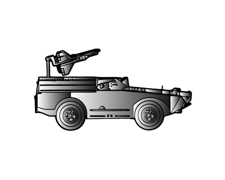 Light armoured reconnaissance vehicle drives on white background Banque d'images - 103338669