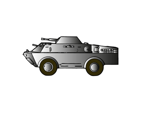 Light armoured reconnaissance vehicle drives on white background Banque d'images - 103338675