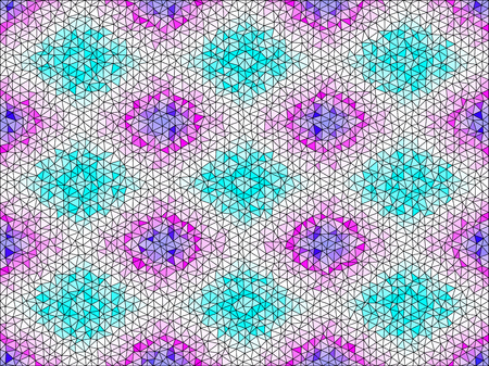 Realistic hexagonal grid background.Vector illustration. Seamless pattern.