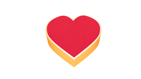 Isolated heart on a white background