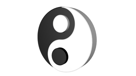3d model of Ying and Yang. Two concepts of Chinese philosophy 写真素材