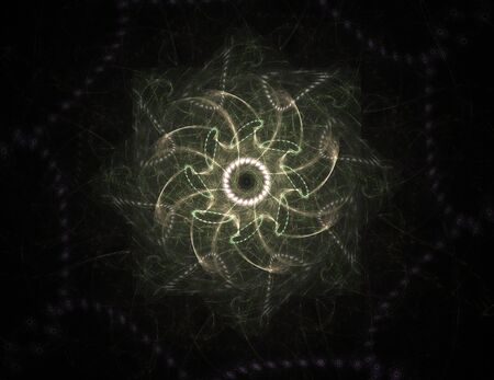 Abstract fractal background - computer-generated image. Digital art. Converging toward the center of the circles. For covers, posters, desktop wallpaper