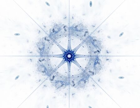 Abstract fractal color background with crossing circles and oval. Motion illustration. Stock Photo