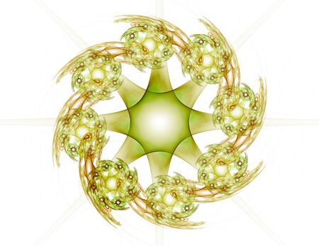 Abstract fractal color background with crossing circles and oval. Motion illustration. Stok Fotoğraf