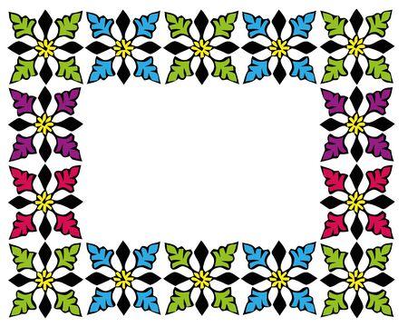 Colourful picture frame on the white wallpaper. Archivio Fotografico - 133516876