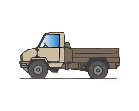 Tipper truck. Vector illustration Illustration
