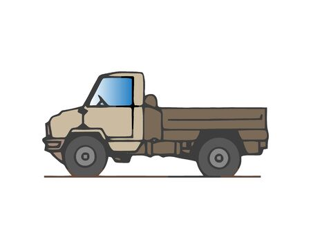 Tipper truck. Vector illustration  イラスト・ベクター素材