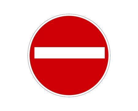 Stop Sign. No entry Sign. Wrong Way Sign.