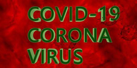 3D rendering Coronavirus Bacteria Cell Icon, 2019-nCoV Novel Coronavirus SARS-CoV-2 Bacteria. Danger, virus, flu. Analysis and test, experimentation. Dangerous Coronavirus covid-19.