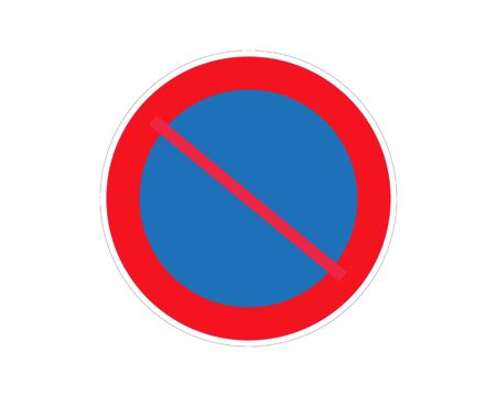 Stop Sign. No entry Sign. Wrong Way Sign. Vettoriali