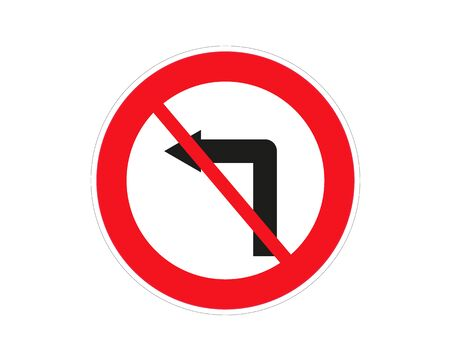 Do Not Turn Right Traffic Road Sign,Vector Illustration, Isolate On White Background,Symbols, Label.