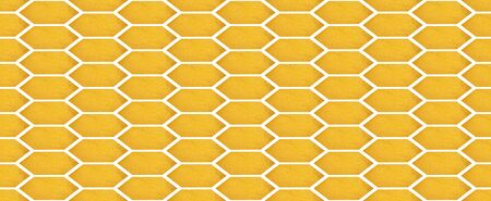 A honeycomb background image over a white background