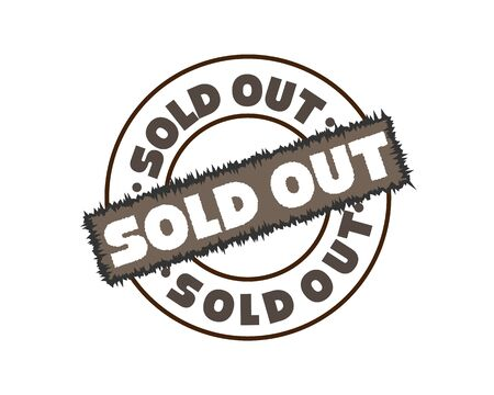 Sold out rubber stamp vector illustration on white background. Sold rubber stamp. Sold out imprint. Grey sold stamp.