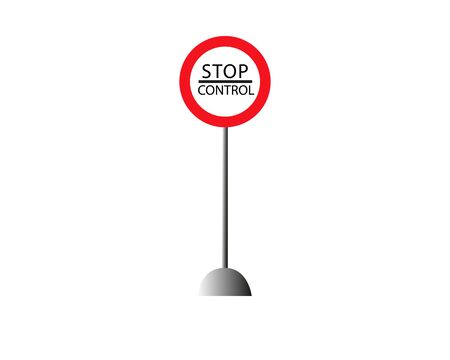 Sign stop control, the customs checkpoint in vector for print or design Stock Illustratie