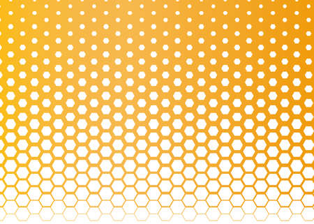 Vector halftone dots. Orange dots on white background.