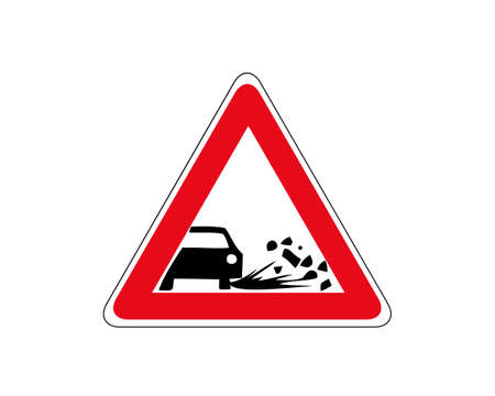 Ejection of gravel icon. Flat illustration of ejection of gravel vector icon for web. 向量圖像