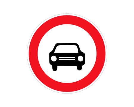 prohibition sign no parking, no car, attention on the road, traffic sign, vector image Vektorové ilustrace