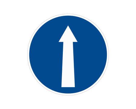 Round traffic sign. Vector illustration.  イラスト・ベクター素材