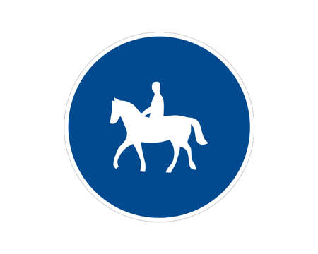 Command road sign trail for animal riders. Vector illustration. Suitable for use on web apps, mobile apps and print media. Illusztráció